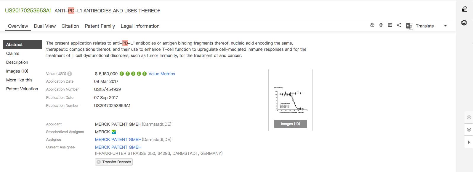 [IMG 3] PD-L1 Patent Similar to Avelumab