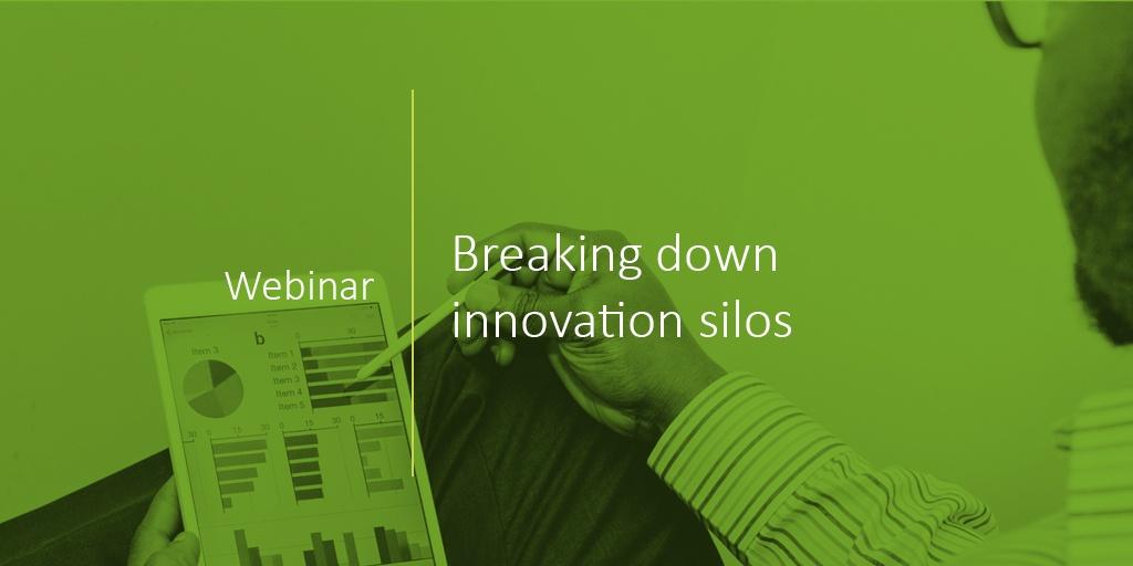 An image of PatSnap's webinar on breaking down innovation silos