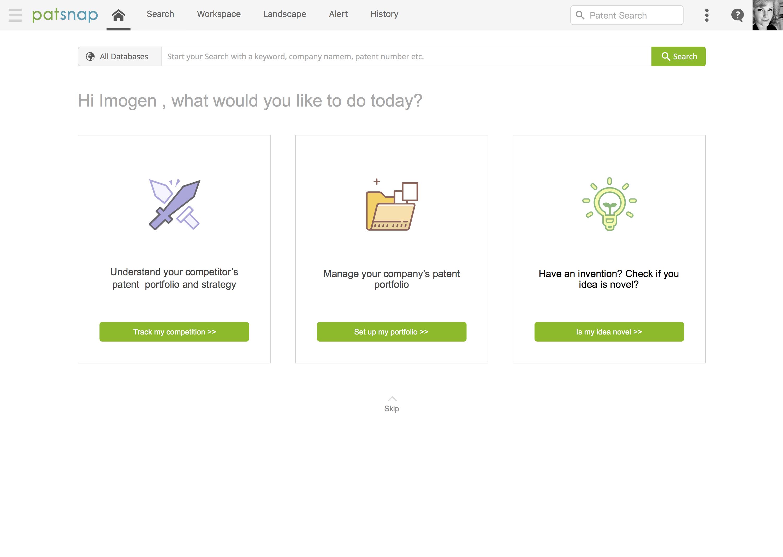 PatSnap Analytics Homepage