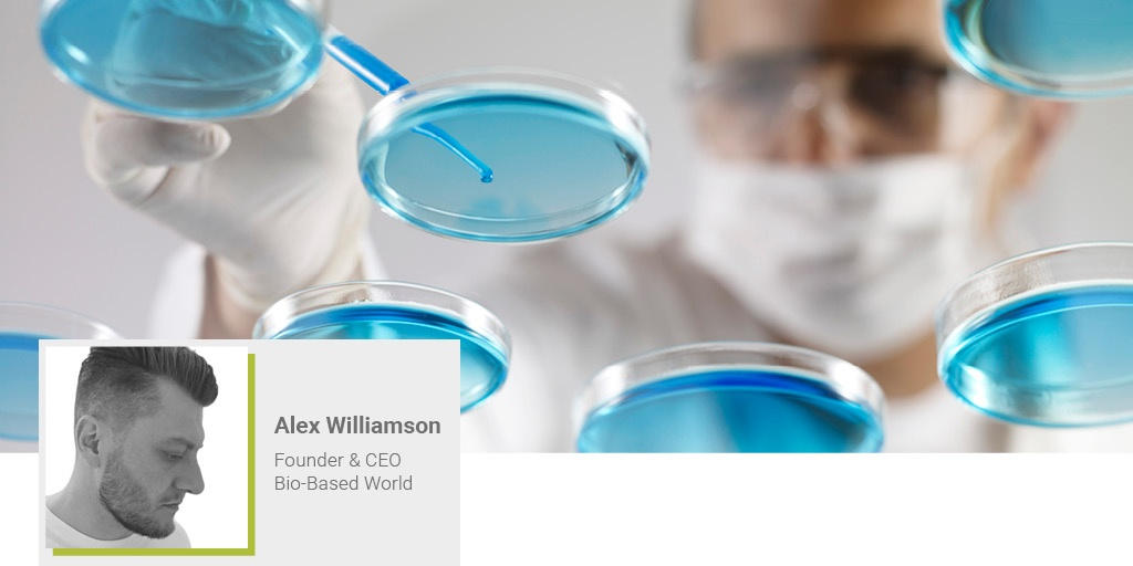 A banner image of Alex Williamson from Bio-Based World