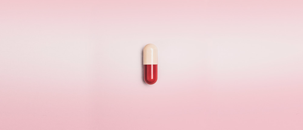 An image of a pill